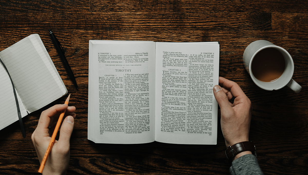 image of Bible sitting on table